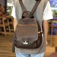 backpack women genuine leather shoulder bag casual travel bag work bags multi pocket fashion high quality large capacity girls