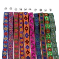 7metersstring ethnic jacquard ribbon for diy craft curtain home textile stage clothing bags decor accessories