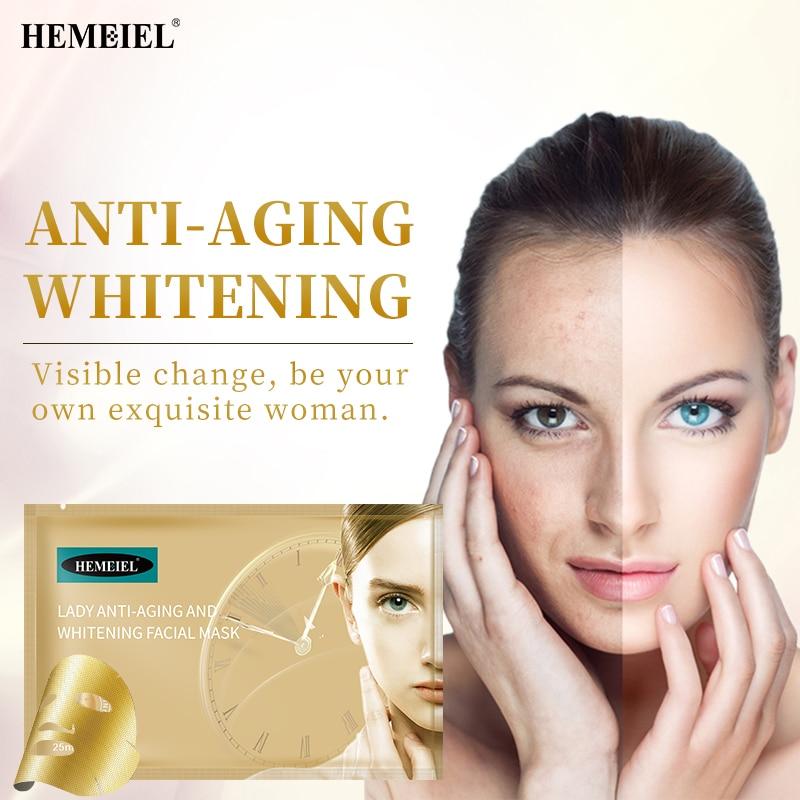HEMEIEL Lady Face Mask Women's Skin Care Anti-aging Whitening Female Cosmetics Brighten Moisturizing