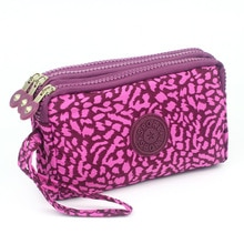 แฟชั่นผู้หญิงกระเป๋าสตางค์ผ้าใบซิปกระเป๋าถือเหรียญกระเป๋าถือหญิงเงินดอกไม้รูปแบบ Lady กระ...