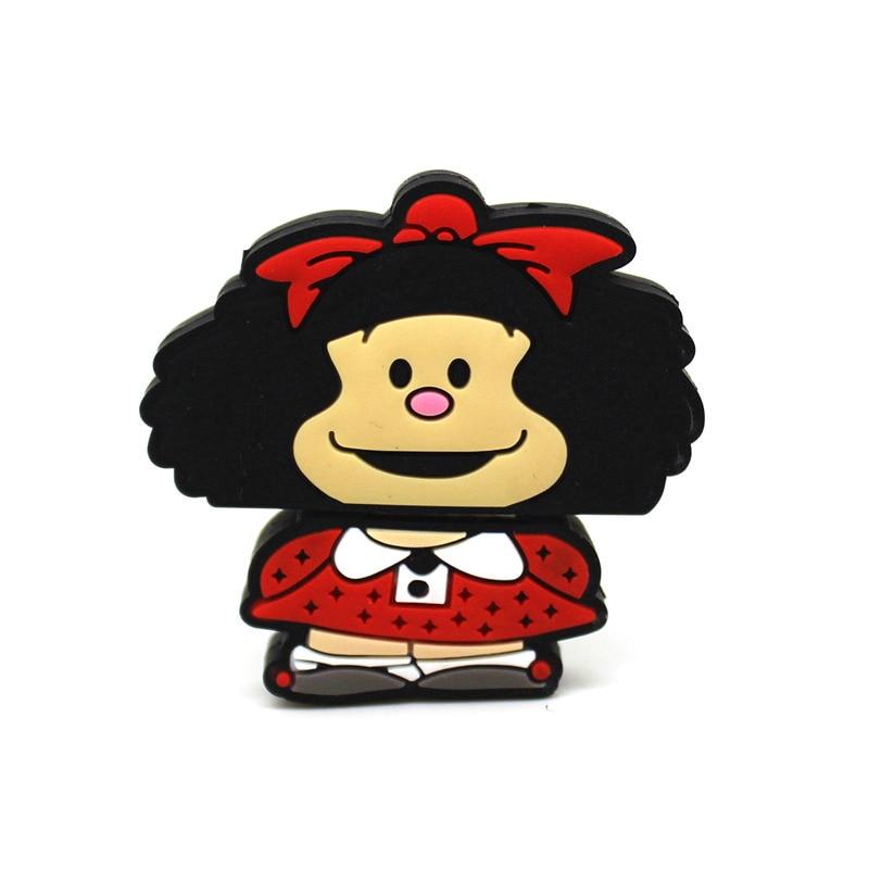Симпатичный USB флеш-накопитель мультфильм Mafalda флеш-накопитель 128 ГБ флэш-накопитель 64 ГБ флэш-накопитель 32 Гб оперативной памяти, 16 Гб встро...