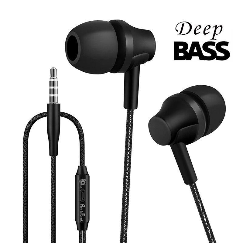 2020 com fio fones de ouvido esporte 1.2 m no ouvido graves profundos fones estéreo com microfone para iphone samsung huawei xiaomi vivo oppo
