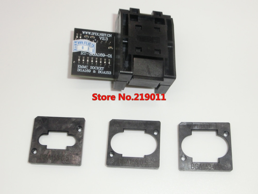Адаптер EMMC Seat EMCP153 EMCP169, разъем BGA169 BGA153, EMMC, 11,5*13 мм, для RT809H, RT-BGA169-01, 3 шт.