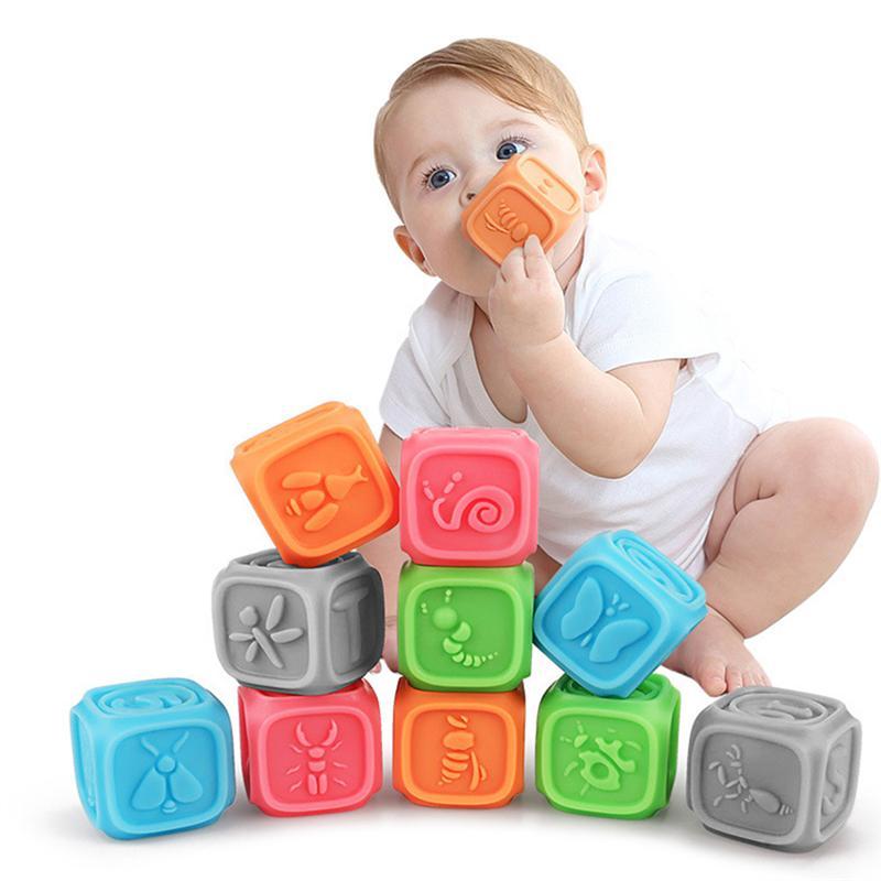 10 قطعة كرات اليد الطفل الرضع الضغط كرات الطفل الحواس لعب الفتيان الفتيات الهدايا