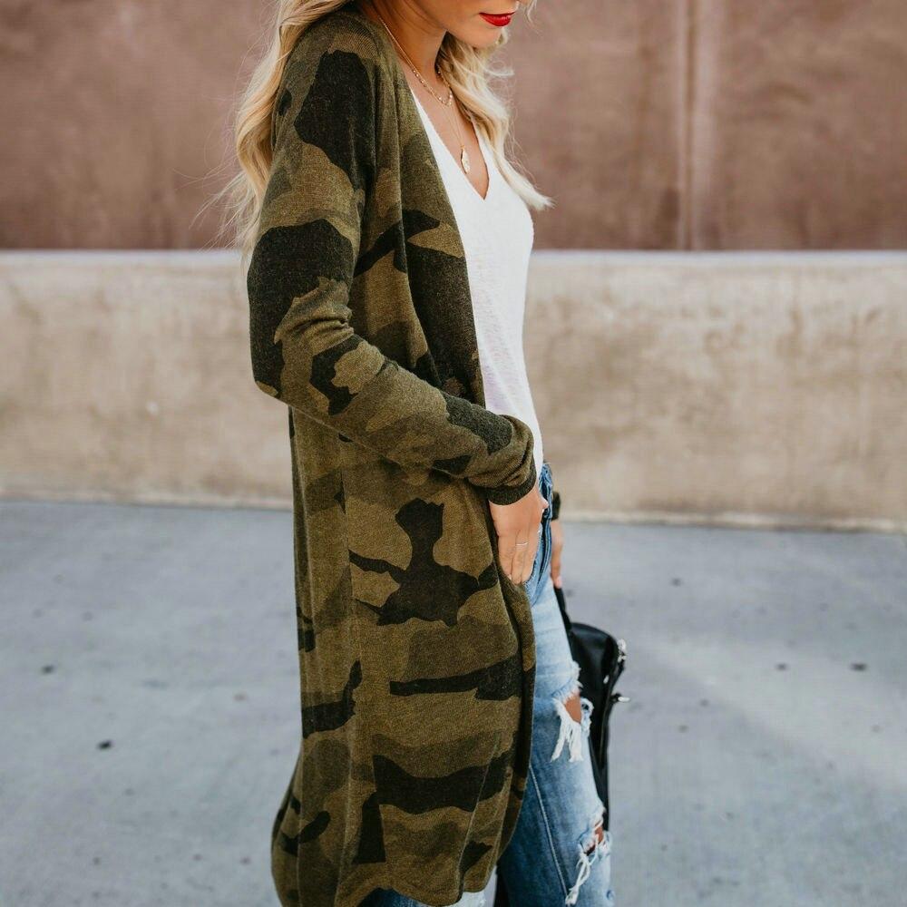 Otoño 2019, cárdigan tipo Kimono con estampado de leopardo a la moda para mujer, Tops, abrigo, chaqueta informal con abertura frontal, suéteres de manga larga, ropa de calle