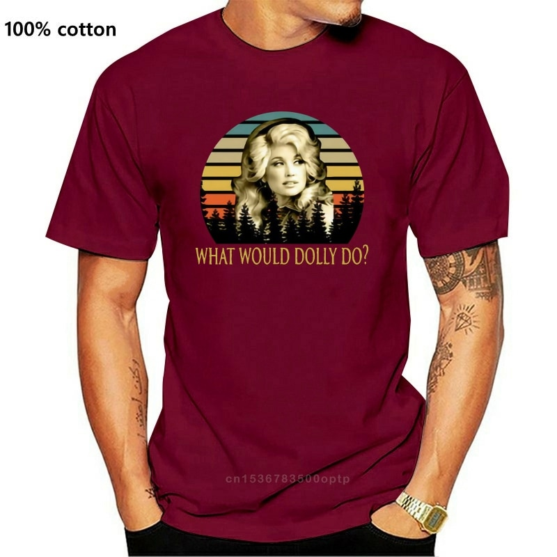 Dolly Parton Wat Zou Dolly Doen Land Muziek Legende Vintage Heren T-shirt Tee Digitale Gedrukt Tee Shirt