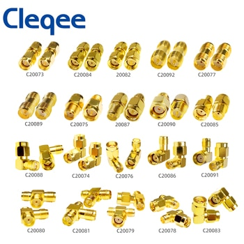 YPioneer C20073-92 1PC SMA to SMA Male Female Gold Plated RP SMA Male RP-SMA Female Connector RF Adapter Straight Bent L/T Type