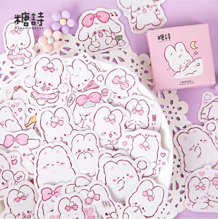 45-unids-pack-lindo-conejo-diario-kawaii-decoracion-pegatinas-planificador-scrapbooking-papeleria-japonesa-diario-pegatinas