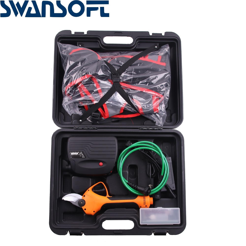 SWANSOFT max cutting 35mm living plant Professional Pruning Shears Electric Scissors for Garden Vineyard Scissors
