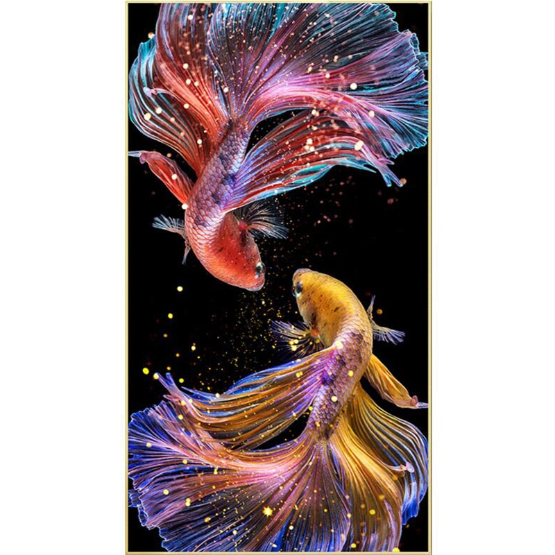 Fish animals new 5d art diy Cross stitch embroidery set 3d Diamond painting kit mosaic full drill square rhinestones special