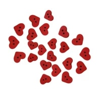 40hot100pcs 2 holes red love heart wooden button clothes diy sewing accessory decor