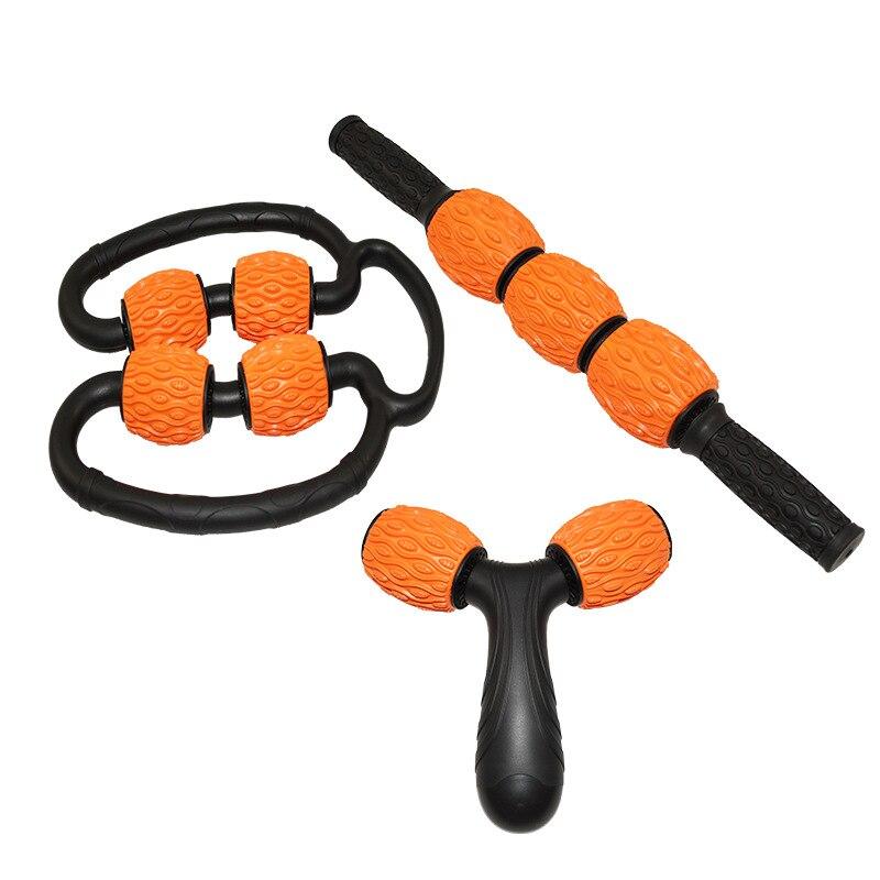 שלושה סוג נייד גוף עיסוי מקל שרירים רולר כלי עבור חדר כושר יוגה כושר גוף זרוע רגל הרפיה