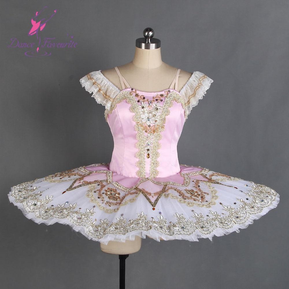 Profesional BalNew profesional tutús Rosa oro adulto Raymonda tipo Plato de tortita Tutu personalizado hecho trajes de Ballet clásico