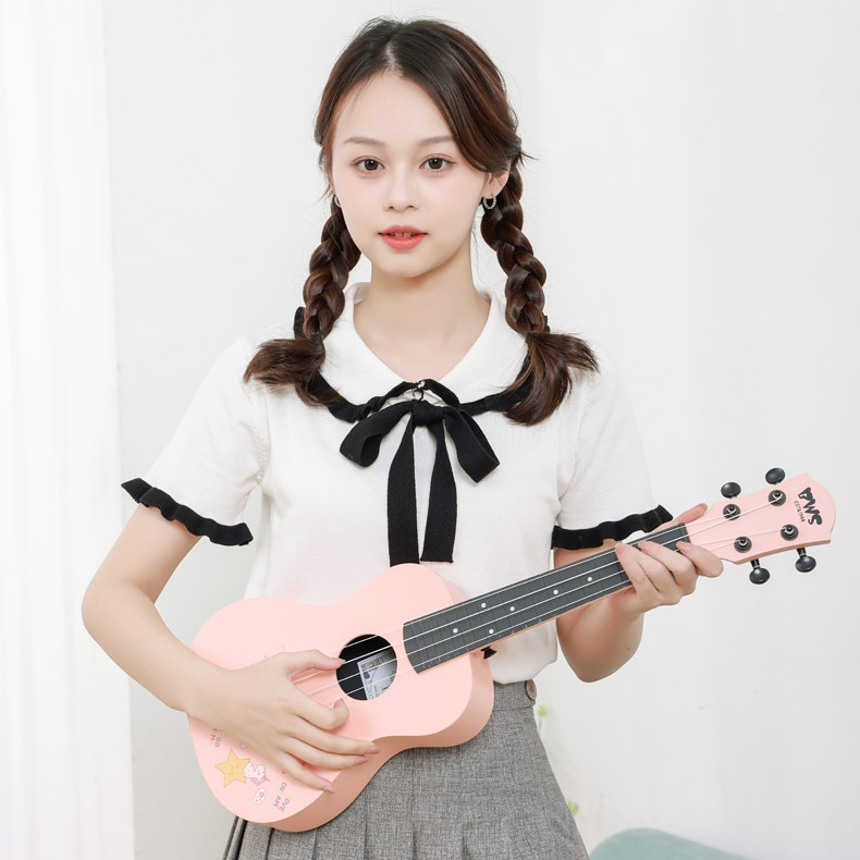 Classical Small Guitar Adults Practice Concert Carbon Fiber Wooden Acoustic Ukulele Portable Musica Stringed Instruments