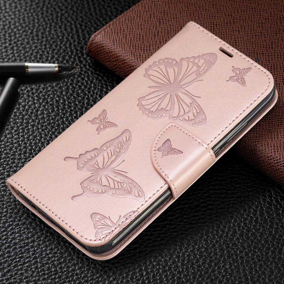 Cartera funda para iPhone x XS Max XR 11 Pro Max lindo cubierta para el caso apple iPhone 8 7 6S 6 Plus cuero liso Flip Capa E07F