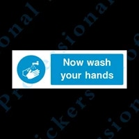 now wash your hands 300x100mm self adhesive sticker food hygiene fp47 waterproof vinyl stickers for car motos