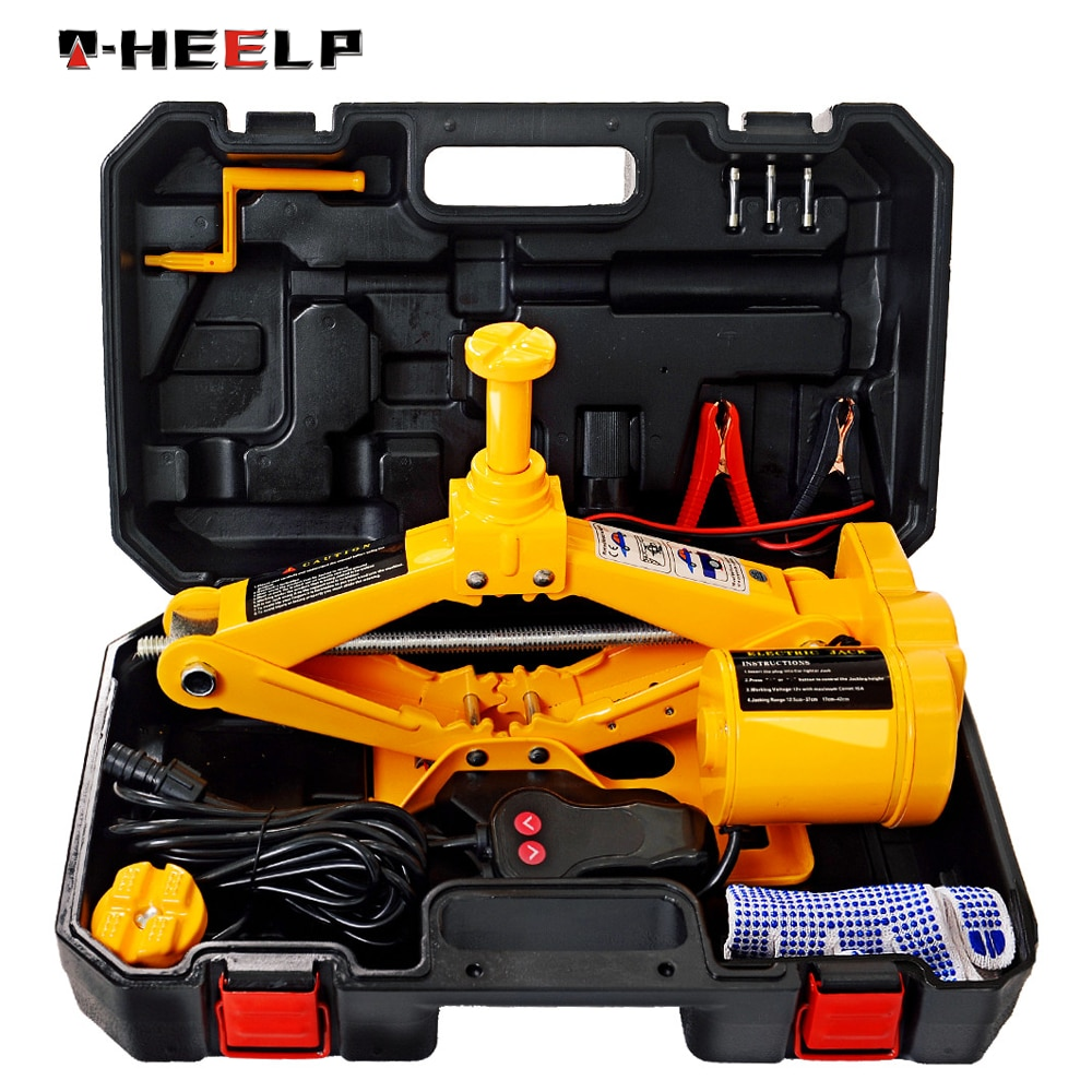 E-HEELP portátil 12 v carro jack 3ton elétrica jacklifting machinismos elevador jack mutifunction elevador automático scissor jack