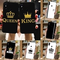 king queen crown phone case for xiaomi mi redmi note 7 8 9 pro 8t 9t 9s 9a 10 lite pro