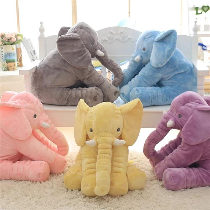 40/60cm Height Elephant Doll For Kids Pillow Soft Sleeping Stuffed Animals Plush Toys Accompany Doll