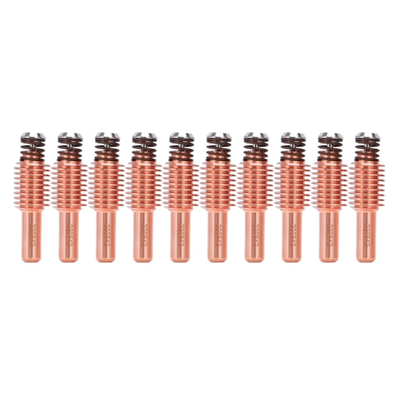 10 Uds 220842 electrodos de corte por Plasma consumibles boquilla de electrodo para antorcha 65A/85A/105A suministros de corte por Plasma