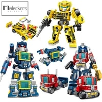 creative expert action figures transformation robot technical car truck building blocks movies figures education toys boys gift