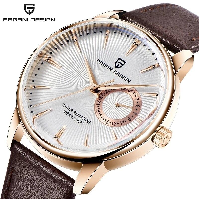 PAGANI تصميم 1654 ساعة رجالي 10ATM مقاوم للماء ساعة كوارتز اليابان VH65 ساعة يد تعمل بالحركة الرجال العسكرية ساعة اليد relogio masculino