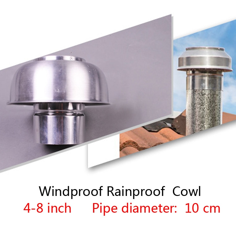 1 قطعة 4-8 بوصة الألومنيوم الفطر القلنسوة ل سقف الهواء تنفيس استعادة الحرارة نظام التهوية مكافحة البعوض يندبروف غير نافذ للمطر
