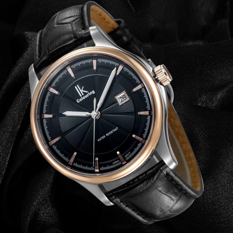 IK Women Dress Watches Luxury Lovers Couple Watches Men Date Couple Quartz Watches with Date Calendar Waterproof Wristwatch 4616 enlarge