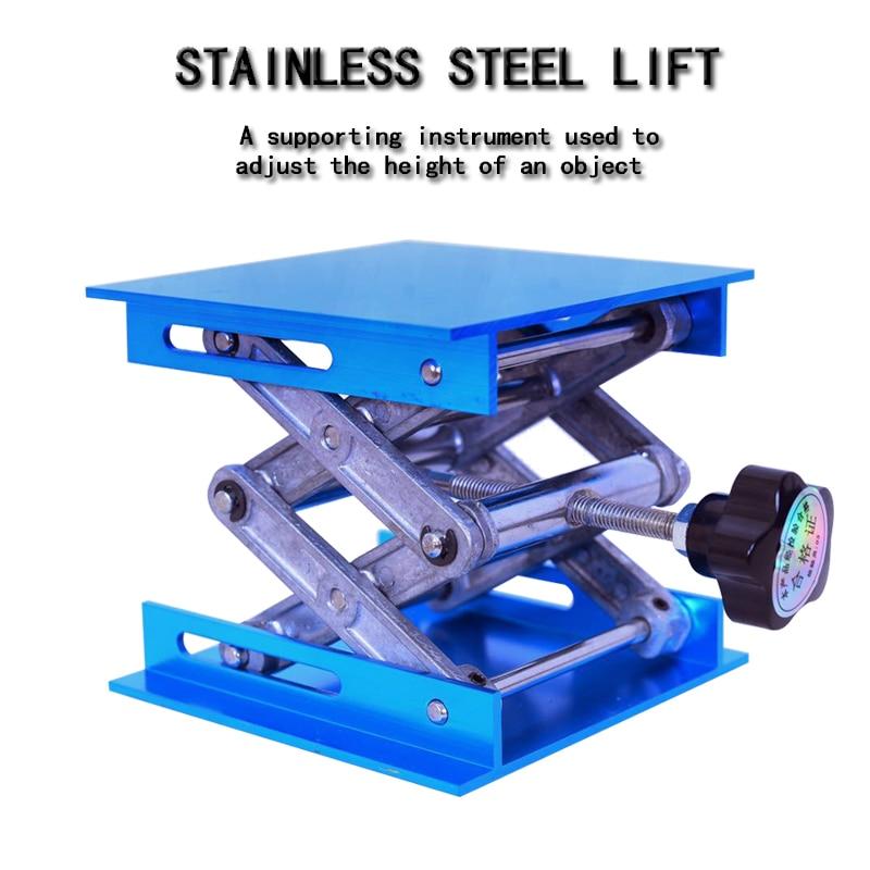 Aluminium routerheftafel, houtbewerkingsgraveerlaboratorium, hefstandaardrek, handmatig hefplatform, houtbewerkingsbanken