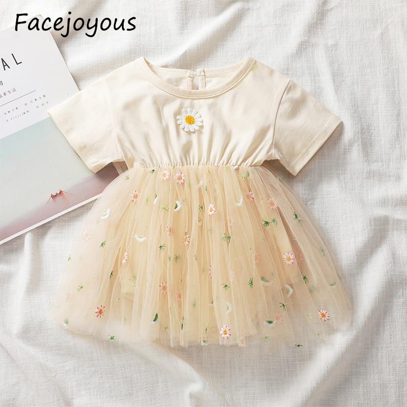 Ropa de verano para bebé, Body para niña, mono de manga corta, vestido infantil con estampado de flores, ropa para bebé