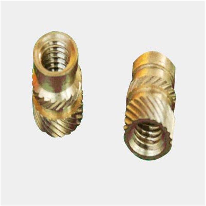MSIB-M1.4/M1.6 Micro Insert For Plastic Knurled Brass Nut Thru-Threaded Knukles Nuts Insertos Knurling Copper Inserti Tuerca PEM