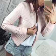 Women Lady Jackets Fashion Basic Jacket Long Sleeve Coat Casual Stand Collar Keep Warm Slim Fit Oute