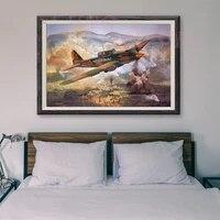 Peinture classique retro T046  42 operations de vol davion de guerre  affiche en soie personnalisee  decoration murale  cadeau de noel