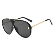 2020 Oversized Sunglasses Vintage Brand Driving Sun Glasses Women Men Flat Top Big Frame Sunglass Re