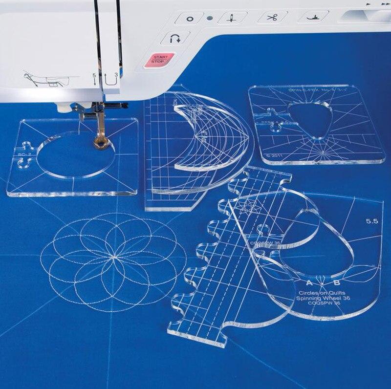 Новый набор образцов линейки для бытовой швейной машины 1 набор = 6 шт # RL-06