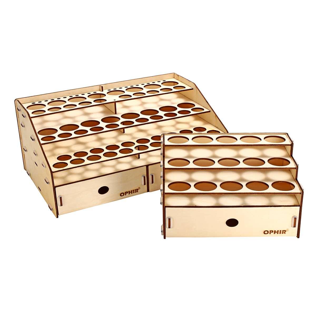 Nueva botella para pigmento de madera de 3 capas organizador de almacenamiento en cajones 15/80 agujeros Color pintura tinta pincel Stand Rack Modular