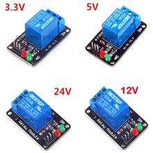 3.3 V 5 V 12 V 24 V bas niveau déclencheur 1 canal Module de relais Interface carte bouclier pour PIC AVR DSP ARM MCU Arduino