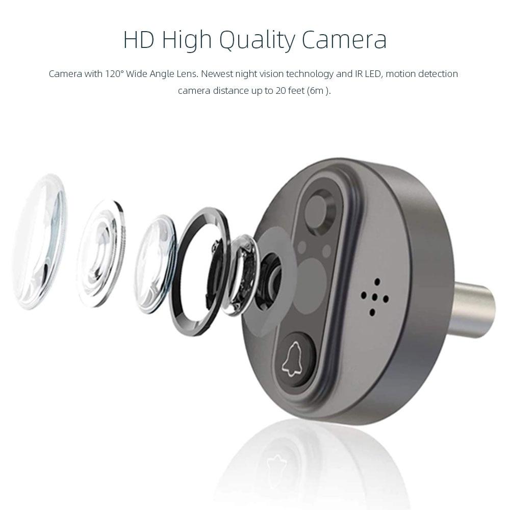 Smart Tuya WiFi 720P Peephole Video doorbell Camera 4.3 Inch Viewer Home PIR HD Night vision Tuya Smart Life APP Live View enlarge