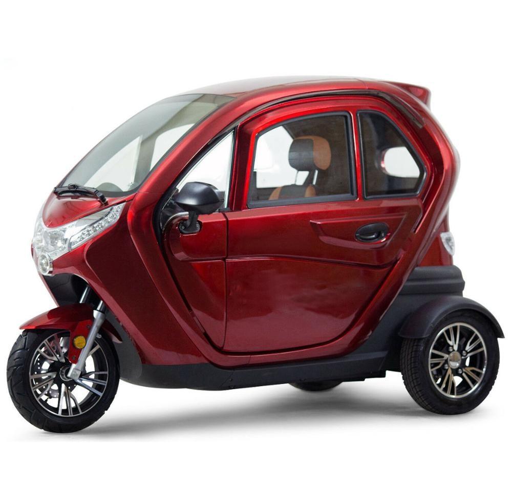 EEC COC دراجة ثلاثية للتنقل الدراجة/ثلاثة مقاعد عربة الركاب/3 عجلات E-دراجة ثلاثية العجلات مع المقصورة تاكسي للبالغين