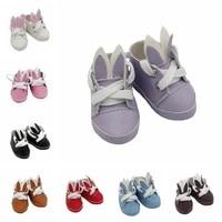 fashion cute bjd doll rabbit ear cartoon shoes for 16 blyth joint dolls 5cm mini doll shoes for girl christmas gift