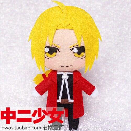 Anime Fullmetal alquimista Edward Elric hecho a mano muñeco colgante juguete llavero bolsa Kits DIY