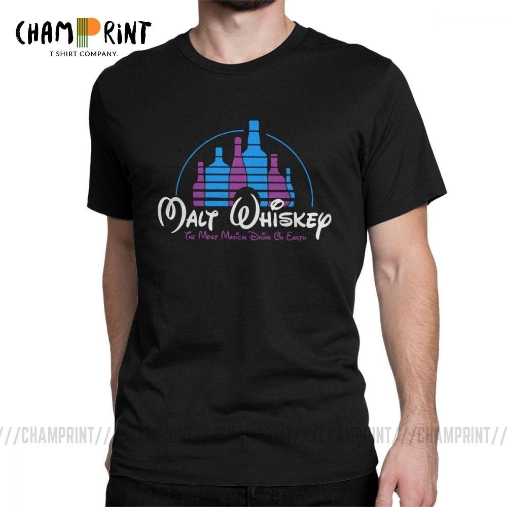 Camiseta de Whisky de malta para hombre, regalo de Whisky de malta para bebedero, camisetas de algodón Vintage para el Día del Padre, camisetas de cuello redondo, ropa