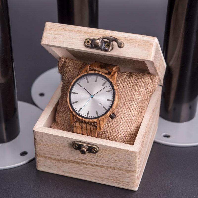 DODO DEER Watch Men Japan Quartz Zebra Wood Watches Male Simple reloj hombre Calendar Date Display Dropshipping  OEM B09 enlarge
