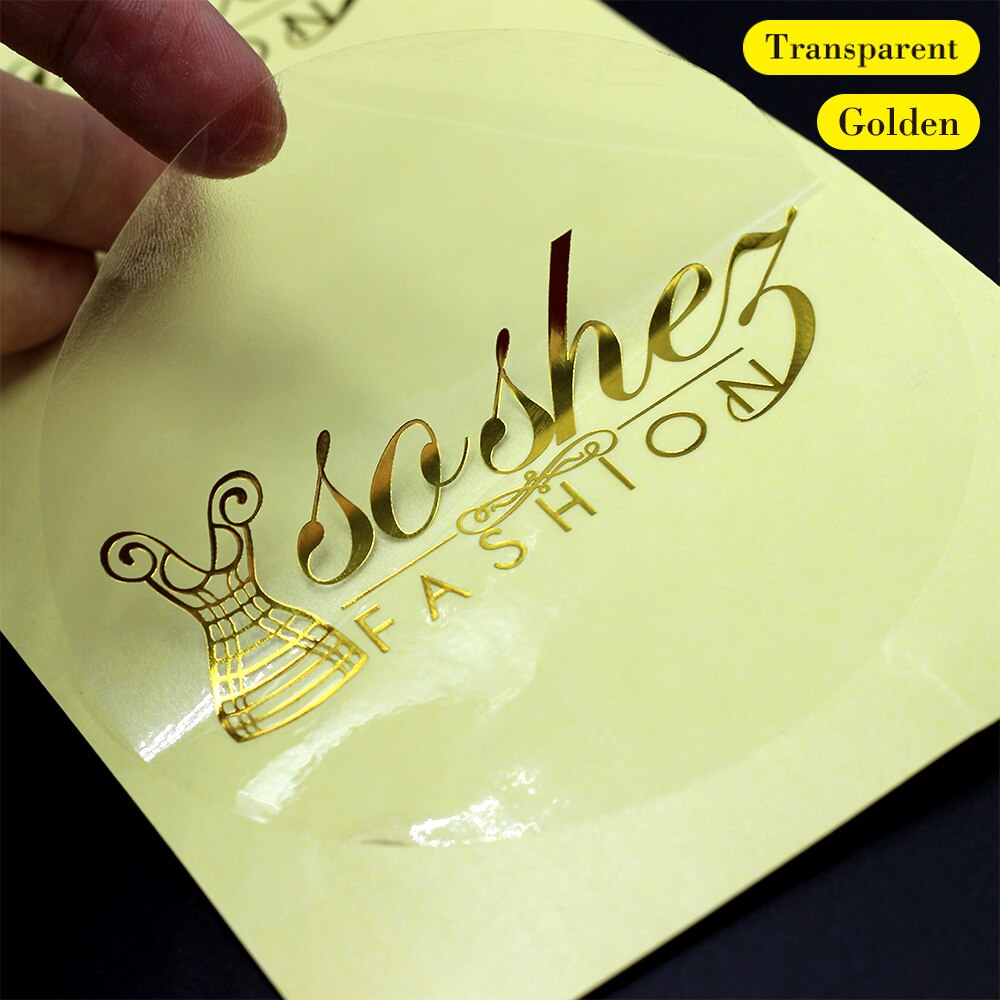 Customized golden stickers and customized logo Design your own stickers personalized stickers wedding stickers 3-10cmTransparent
