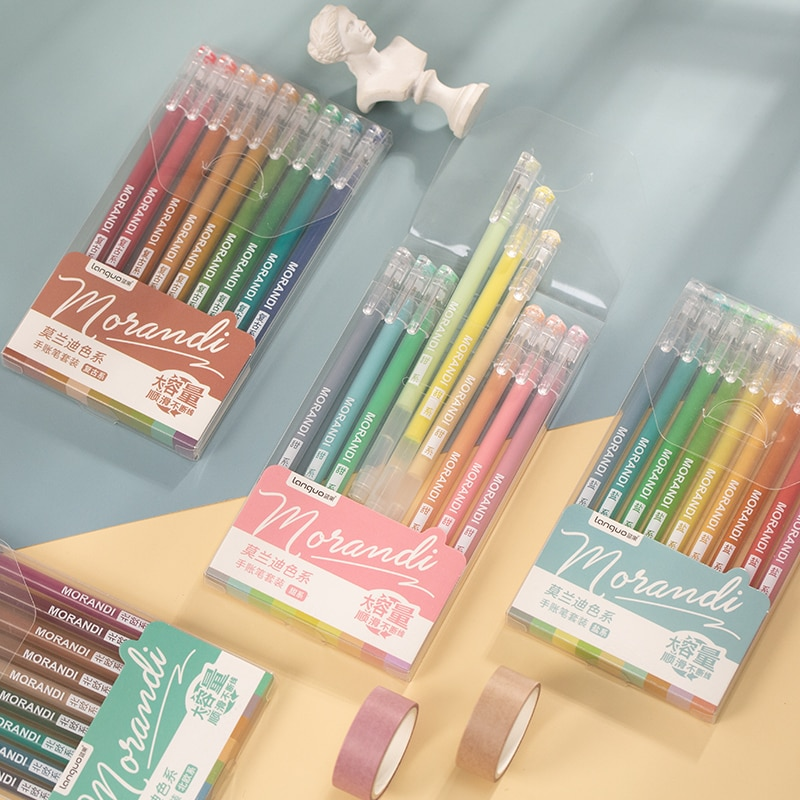Dimi 9 шт. винтажный большой емкости цветной маркер Molandi Ручка DIY Искусство граффити рисунок кавайная школьная офисная Канцелярия