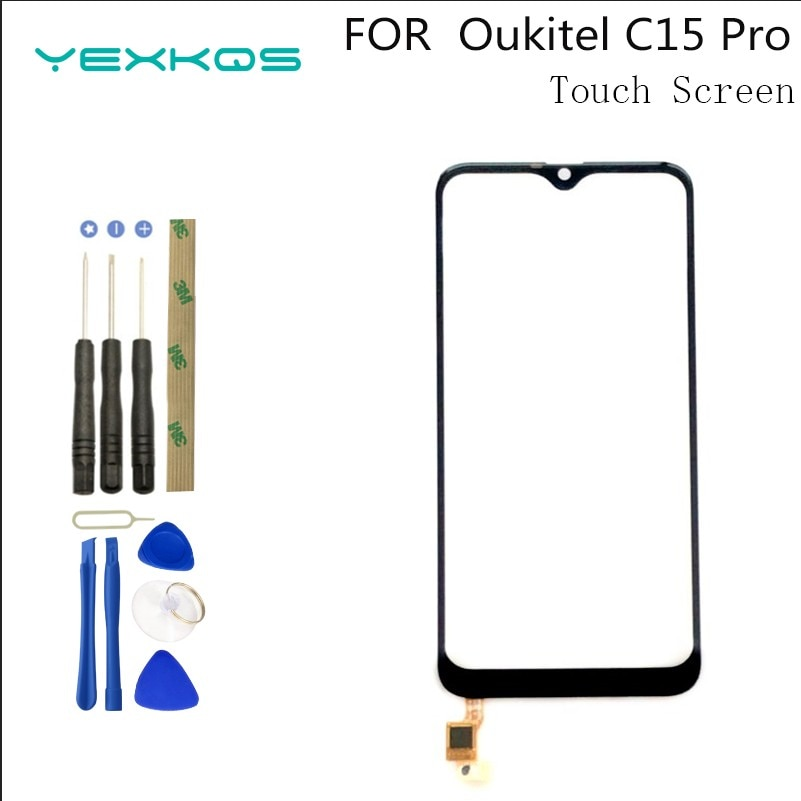 Mobile Touch Screen For Oukitel C15 Pro TouchScreen Phone Front Glass 6.088''Digitizer Panel Sensor