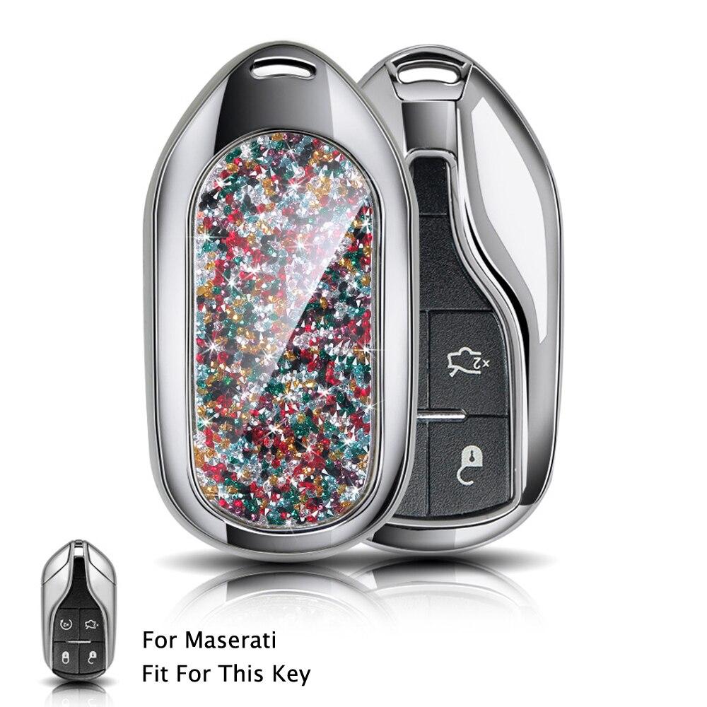 Smart Car key cover Shell case keyfob For Maserati GT Granturismo Spoiler Coolest Interior GranCabrio Spyder Remote 4 Buttons