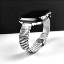 correa for apple watch strap 7 6 5 4 3 se women mesh loop for iwatch se 38mm 40mm 41mm 42mm 44mm 45mm slim Stainless Steel wrist