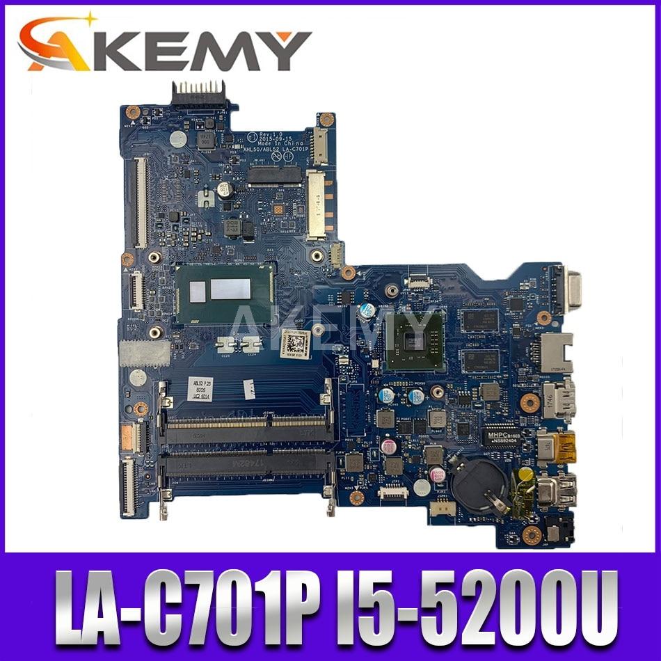 Para For HP 250 G4 NOTEBOOK PC laptop Motherboard 816437-816437-501 816437-601 i5-5200U 001 LA-C701P 100% testado inteiramente