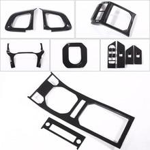 For Land Rover Range Rover Evoque 2012-2019 ABS Car Center Console Gear Carbon Fiber Luxury Entire Interior Moldings Accessories